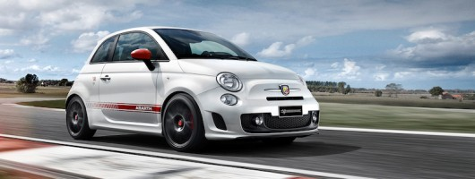 Abarth celebrates MotoGP tie-up. Image by Abarth.