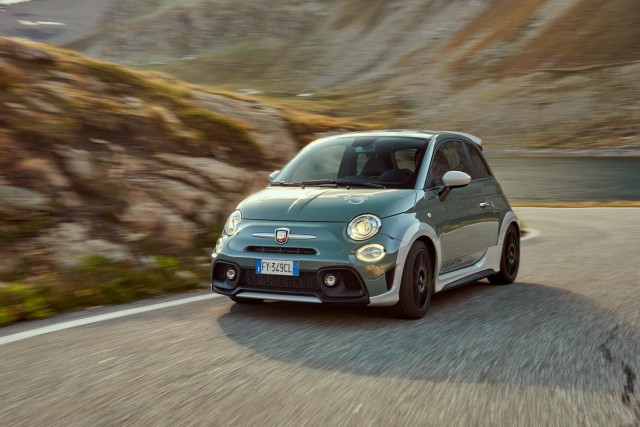 Abarth celebrates with 695 70th Anniversario. Image by Abarth.