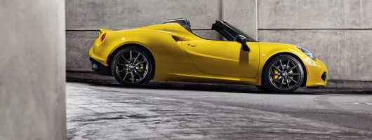 Alfa 4C Spider is official. Image by Alfa Romeo.