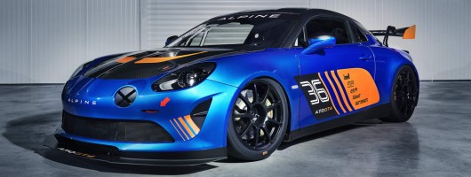 Alpine goes racing again with A110 GT4. Image by Alpine.