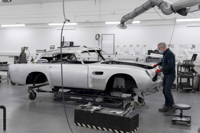 James Bond DB5 goes into production. Image by Aston Martin.