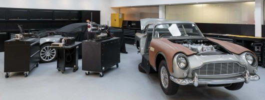 Bond Aston DB5s nearing completion. Image by Aston Martin.