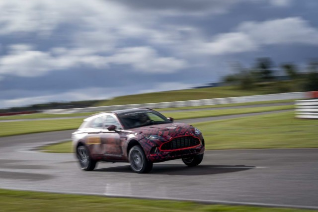 Aston DBX will top 180mph. Image by Aston Martin.