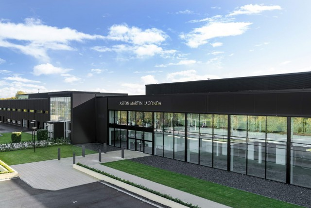Aston's St Athan factory nears completion. Image by Aston Martin.