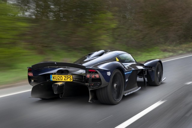 Aston Valkyrie rides imperiously onto UK roads. Image by Aston Martin.