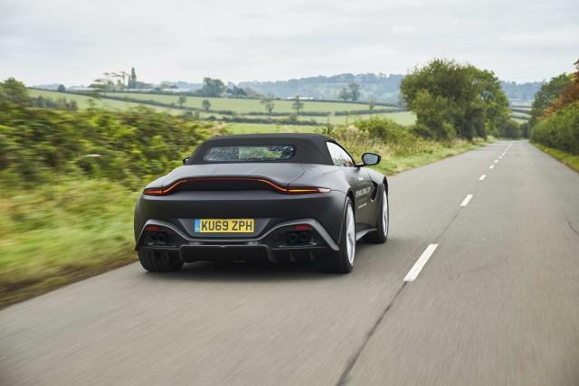 Aston's Vantage convertible opening next year. Image by Aston Martin.