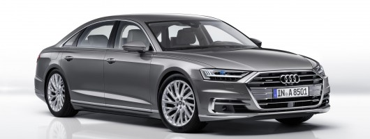 New Audi A8 to employ autonomous and hybrid technology. Image by Audi.