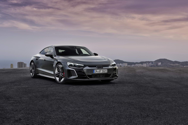 Wraps finally come off Audi e-tron GT. Image by Audi AG.