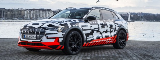 Audi opens pre-orders on 'e-tron' SUV. Image by Audi.