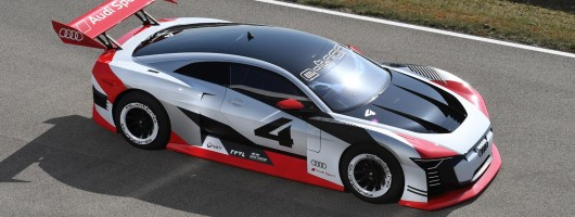 Audi brings digital e-tron racer to life. Image by Audi.