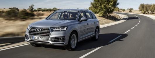 First drive: Audi Q7 e-tron plugin hybrid. Image by Audi.