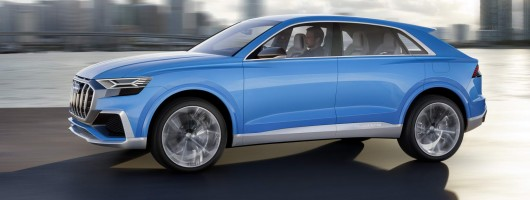 Audi Q8 headlines Detroit trio. Image by Audi.