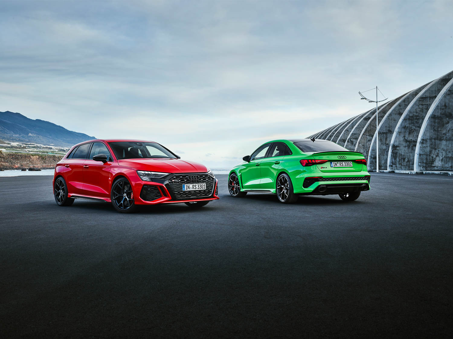 New Audi RS3 drifts into town. Image by Audi.