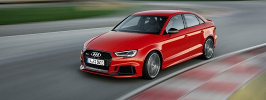 Audi releases RS 3 saloon into the wild. Image by Audi.