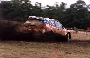 Bates drove faultlessly in the Corolla WRC but was not happy with the wet set-up