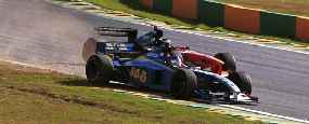Villeneuve did not have a good race after being demoted to the back of the grid.