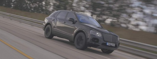 Bentley's Bentayga will top 185mph. Image by Bentley.