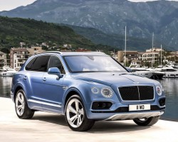 Bentley's first diesel goes into the Bentayga. Image by Bentley.