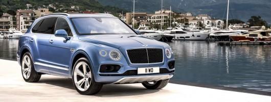Bentley's first diesel goes into the Bentayga. Image by Bentley.