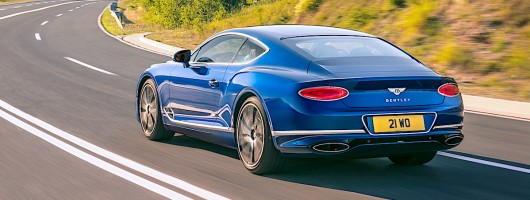 First drive: Bentley Continental GT. Image by Bentley.