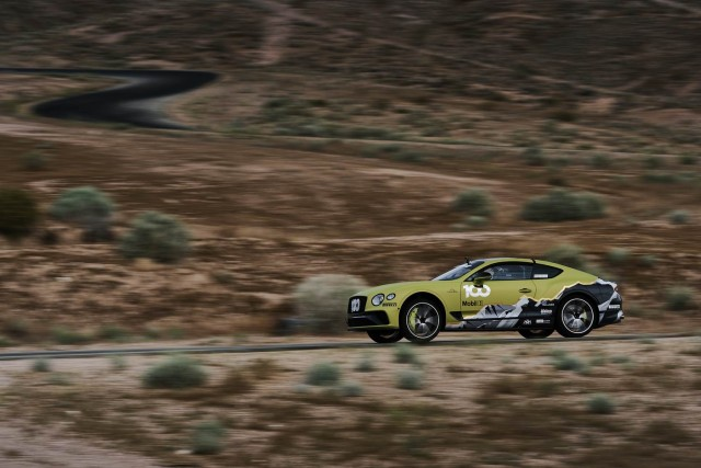 Pikes Peak record the aim for Bentley Continental GT. Image by Bentley.