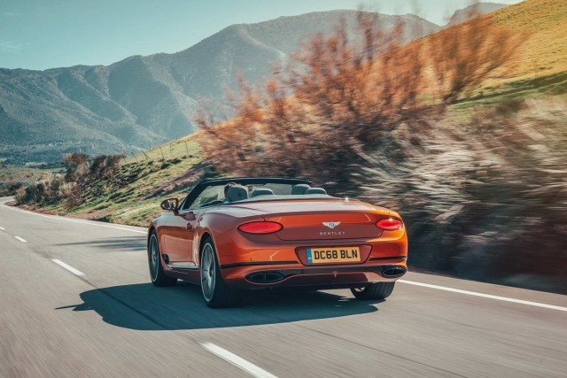 First drive: Bentley Continental GTC. Image by Bentley UK.