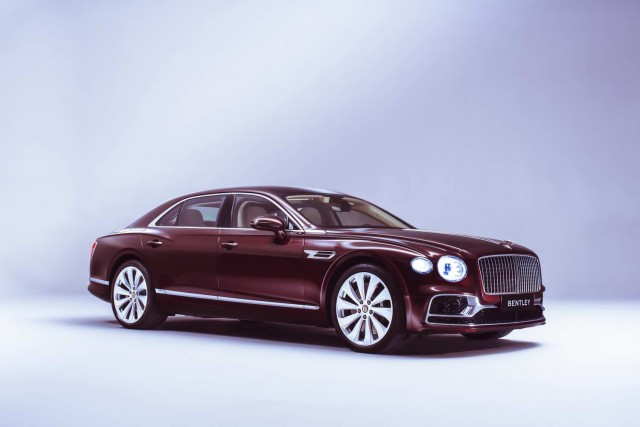 New Bentley Flying Spur goes high-tech. Image by Bentley.