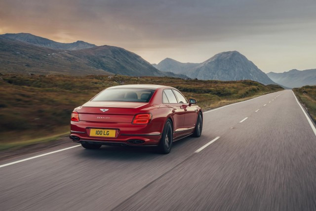 Bentley drops V8 into Flying Spur. Image by Bentley.