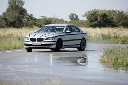 2008 BMW 7 Series under camouflage. Image by BMW.