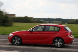 2012 BMW 1 Series prototype with three-cylinder engine. Image by BMW.