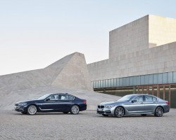 BMW lets loose an all-new 5 Series. Image by BMW.