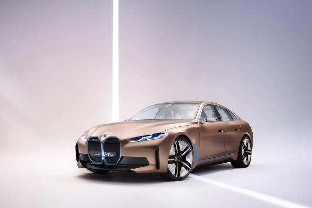 BMW unveils i4 EV. Image by BMW AG.