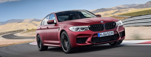 Say hello to the 2018 BMW M5. Image by BMW.