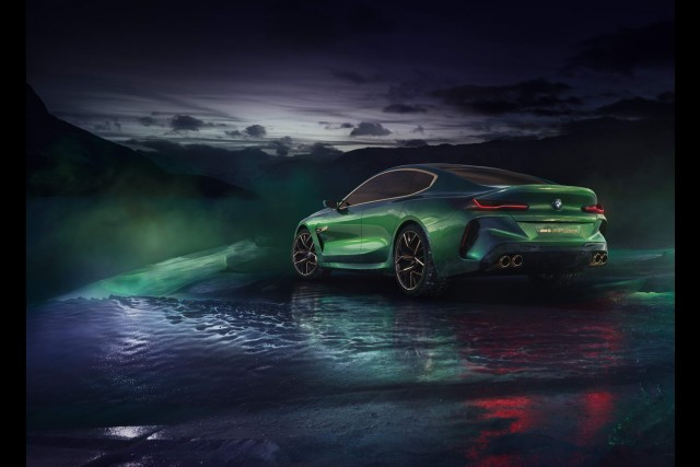 BMW Concept M8 Gran Coupe: a vision in green and gold. Image by BMW.