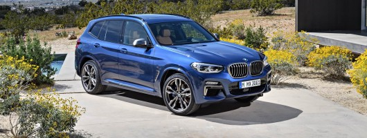 BMW reveals larger, lighter new X3. Image by BMW.