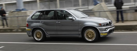 Passenger ride in the V12-engined BMW X5 LM. Image by BMW.