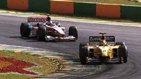 Frentzen drove to a strong 3rd place, proving to be as quick as Eddie Irvine.