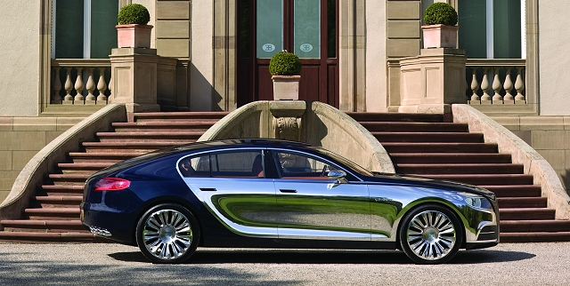 Bugatti reveals saloon of its future. Image by Bugatti.