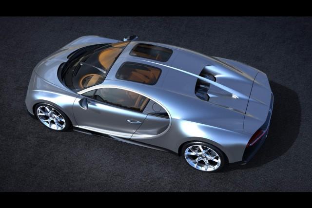 Bugatti Chiron with Sky View. Image by Bugatti.