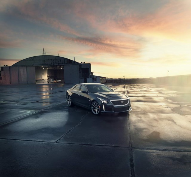 Cadillac ups the ante with 640hp CTS-V. Image by Cadillac.