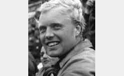 Mike Hawthorn at Le Mans in 1955. Image by Eileen Buckley.