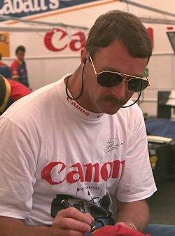 Nigel Mansell. Image by Eileen Buckley.
