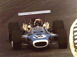 Jackie Stewart driving the 1969 Matra. Image by Eileen Buckley.