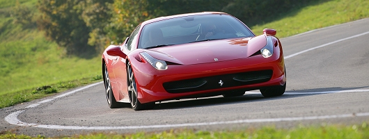 First Drive: 2010 Ferrari 458 Italia. Image by Ferrari.