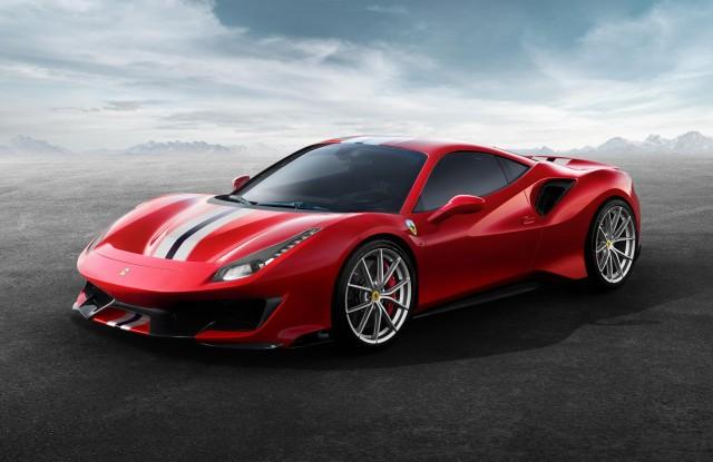 New Ferrari 488 Pista gets 720hp. Image by Ferrari.