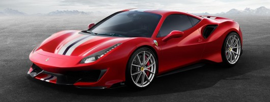 New Ferrari 488 Pista gets 720hp. Image by Ferrari.