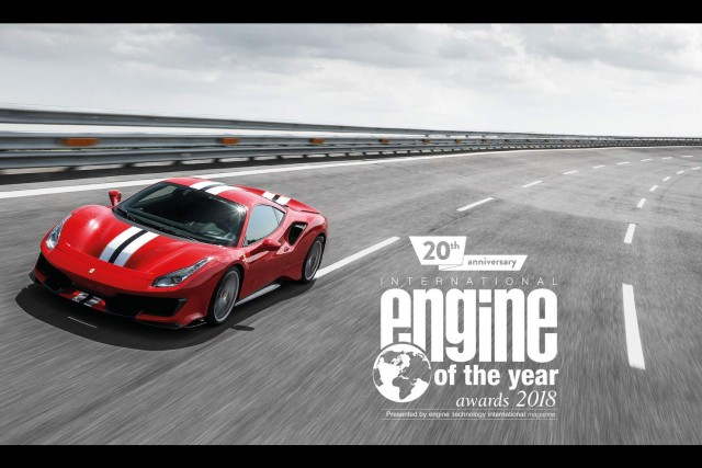 Ferrari tops Engine of the Year for third time. Image by Ferrari.