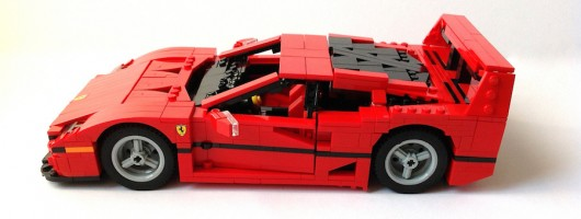 Build your own F40. Image by Lego.