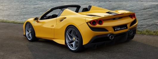 Ferrari F8 Spider drops its top. Image by Ferrari.
