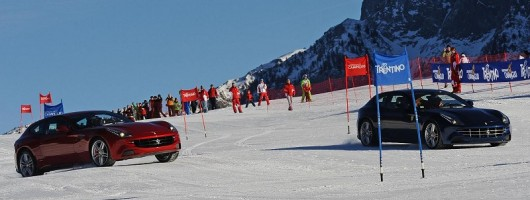 Alonso and Massa take to the slopes. Image by Ferrari.